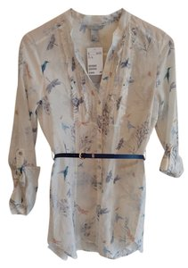 H&M Bohemian Button Down Shirt Cream