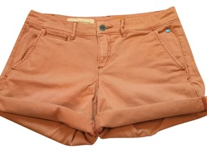 Anthropologie Cuffed Shorts Nantucket red