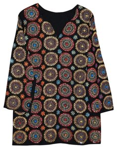 Other Silk Embroidered Minidress Tory Burch Tunic