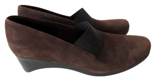 Arche Suede Elastic Wedge Brown Wedges