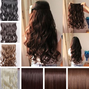 Reduced Light Brown Full Head Hair Extension Free Shipping