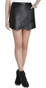BCBGMAXAZRIA Bcbg Faux Leather Mini Skirt