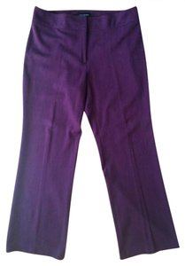Lane Bryant Tall Pencil Stretchy Comfortable Boot Cut Pants Burgundy