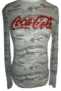 Coca-Cola Thermal Long Sleeve Layer Comfortable T Shirt Olive Green, Tan, Gray Camouflage
