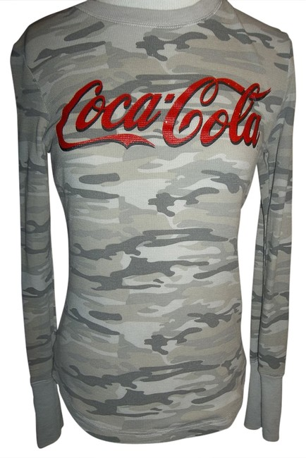 Item - Olive Green Tan Gray Camouflage Thermal Long Sleeve Layer Comfortable Tee Shirt Size 14 (L)