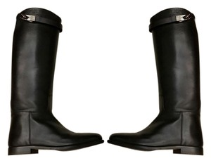 Herms Hermes Classic Black Boots