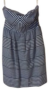 Shoshanna short dress Navy blue and white on Tradesy