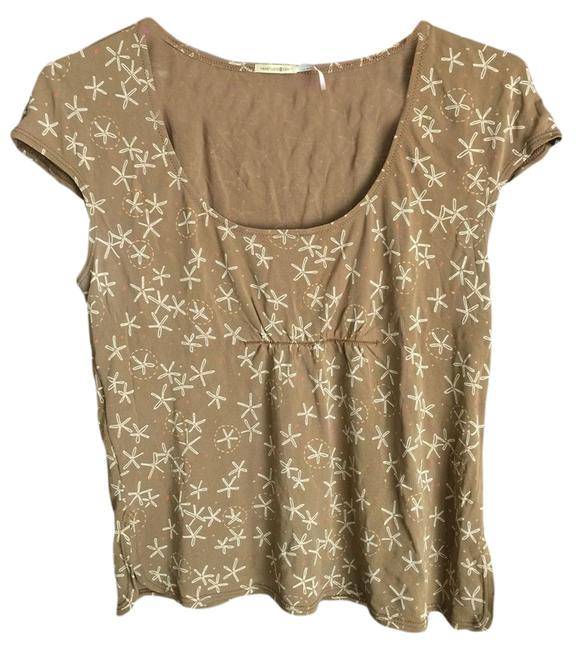 Preload https://item2.tradesy.com/images/max-studio-brown-capped-sleeve-blouse-size-8-m-1343856-0-0.jpg?width=400&height=650