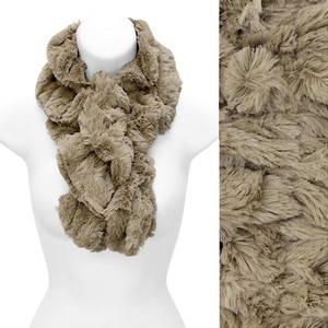 Other Super Soft Solid Faux Rabbit Fur Ruffle Pull Through Scarf!