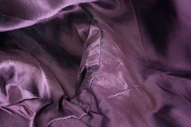 Kenneth Cole Fitted Two-button Velvet Lined Pockets Satin Trim Elegant Feminine Jacket Purple Plum Blazer Image 6
