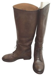 Gucci Cocoa Leather Boots