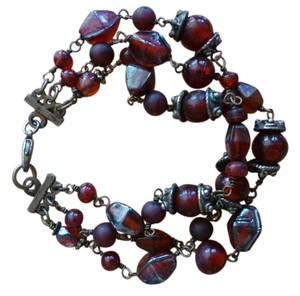Other Red Glass Bead Bracelet