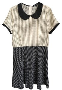Sweet Rain short dress Black And Cream on Tradesy