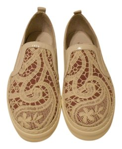 Joyks White Lace Overlay Textured Suede Designed Made In Italy Women's Sneakers White/Orchid Flats