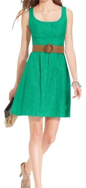 Preload https://img-static.tradesy.com/item/13439218/nine-west-green-scoop-neck-belted-sundress-above-knee-short-casual-dress-size-2-xs-0-2-650-650.jpg