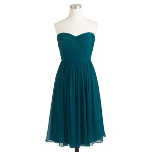 J.Crew Dark Bluegrass Marbella Strapless Dress Dress
