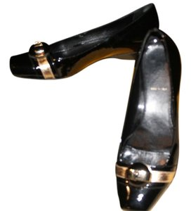 Fendi Patent Leather Ballet Black Flats