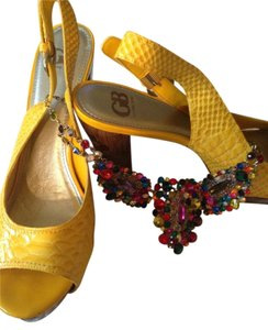 Gianni Bini BRIGHT YELLOW Platforms