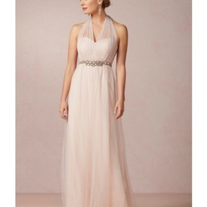 Blush Tulle Traditional Bridesmaid/Mob Dress Size 10 (M)