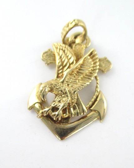 Other 10KT SOLID YELLOW GOLD PENDANT ANCHOR EAGLE CROSS