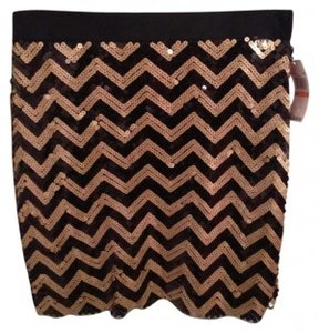 Michael Stars Skirt Black and Gold