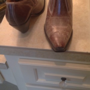 Charlie Horse all leather booties made in Brazil Boots