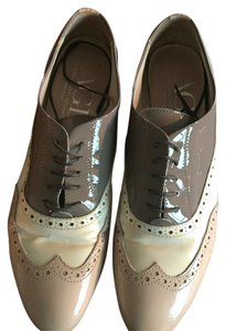 Attilio Giusti Leombruni Patent Blush, taupe, and cream Flats