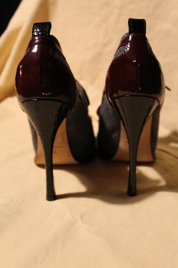 Dsquared2 Tweed Laced Up Stiletto Gray Platforms Image 4