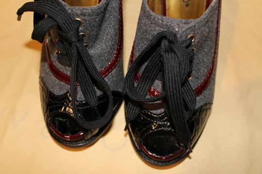 Dsquared2 Tweed Laced Up Stiletto Gray Platforms Image 5