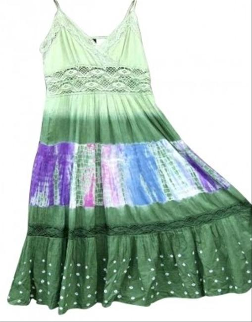 Preload https://img-static.tradesy.com/item/134415/greens-variations-avocado-tye-dye-colors-macrame-summer-spring-beach-cotton-fresh-fun-sexy-long-casu-0-0-650-650.jpg