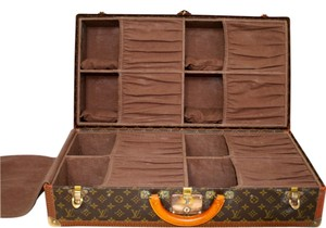 Louis Vuitton Vintage Shoe Luggage Suitcase Alzer Brown Travel Bag