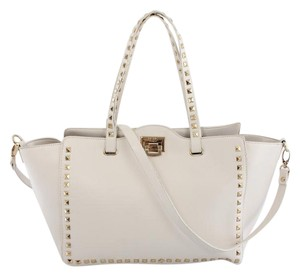 BCBG Paris Studded Kate Spade Gucci Tote in Ivory