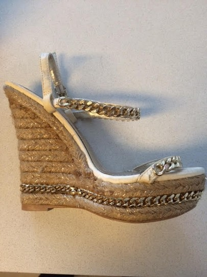 ALDO Gold Straps with Cork Wedge Wedges Image 2