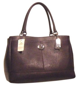 Coach Leather Satchel in Violet