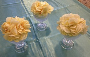 Soft Yellow Hydrangea Table Decor