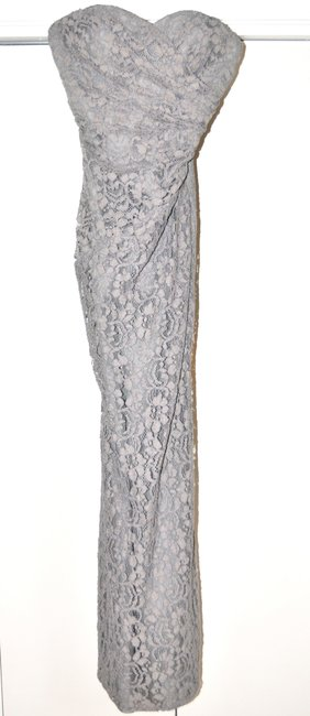 Item - Grey Lace W10329 Formal Bridesmaid/Mob Dress Size 4 (S)