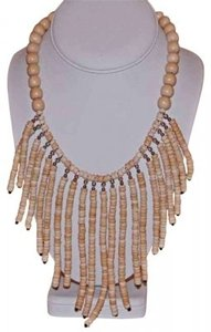 AFRO-FUSION LIMBA AFRICAN LIGHT COLOR WOOD BEAD NECKLACE