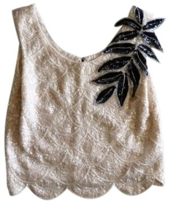 Preload https://item5.tradesy.com/images/ivory-with-lacquer-black-applique-vintage-blouse-evening-special-occasion-sequin-sequins-and-night-o-134424-0-0.jpg?width=400&height=650