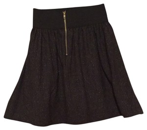 Necessary Objects Fabulous Mini Skater Mini Skirt Tweed