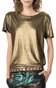 Maje T Shirt Gold