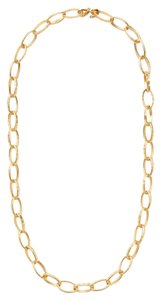 Kenneth Jay Lane Hammered Gold Link Necklace