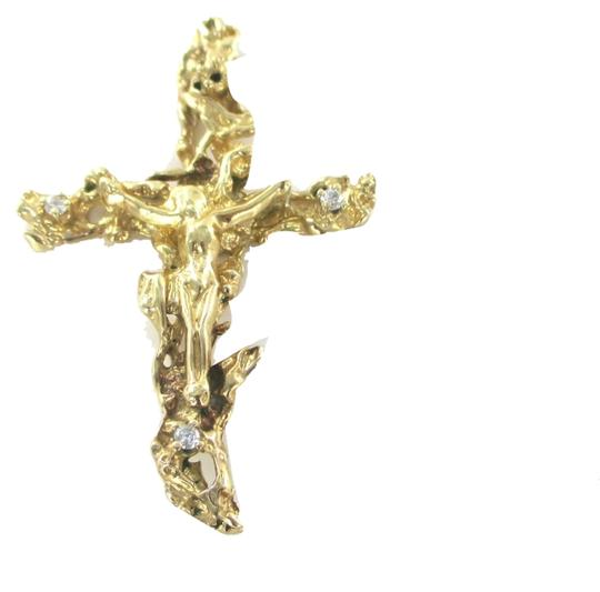 Other 14KT SOLID YELLOW GOLD PENDANT CROSS CRUCIFIX JESUS