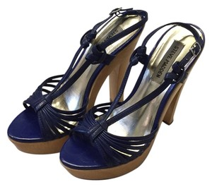 Steve Madden Wedge blue Platforms