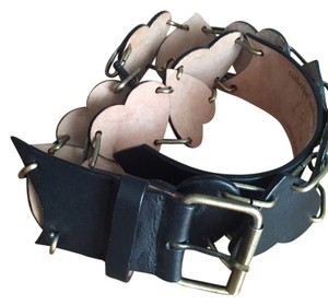 Catherine Malandrino Leather Heart Belt