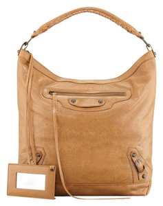 Balenciaga Tan Day Shoulder Bag
