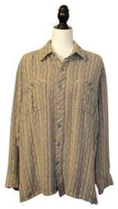 Frittelli and LOCKWOOD Fabric Button Down Shirt Brown