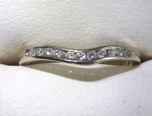 White Gold And Diamond Curved Wedding Band