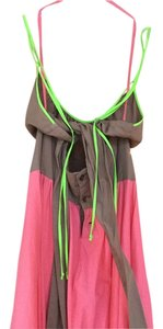 Coral/ taupe/lime Maxi Dress by Marni