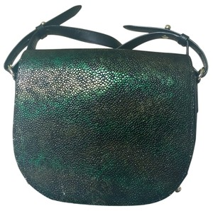 Alexander Wang Stingray Abalone Leather Studded Shoulder Bag