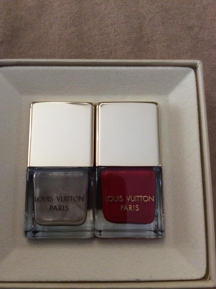 Louis Vuitton Red and Beige Limited Edition Nail Polish Set - Tradesy